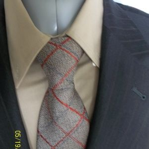HHR1- Jos A Bank Dk Brown Pinstripe Suit